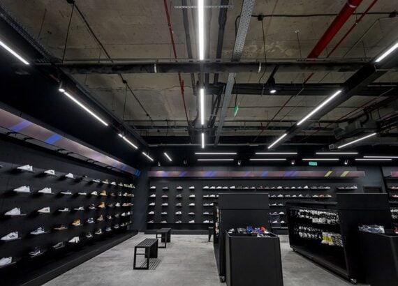Освещение магазина «GoSport»
