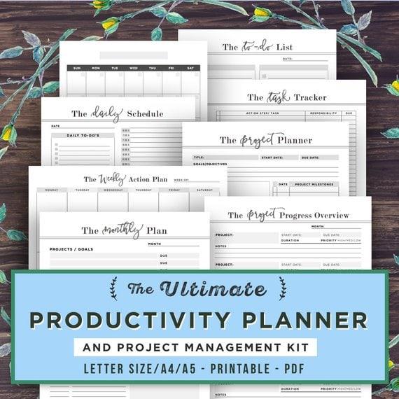 Etsy Productivity Planner