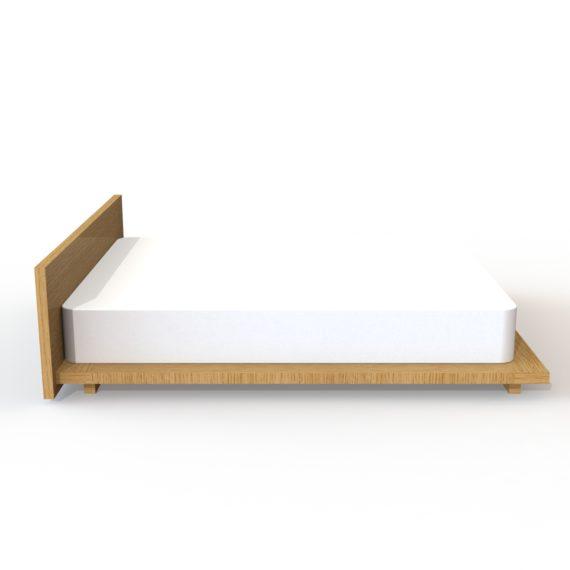 wilbur davis studios platform bed no 3 side view in white oak