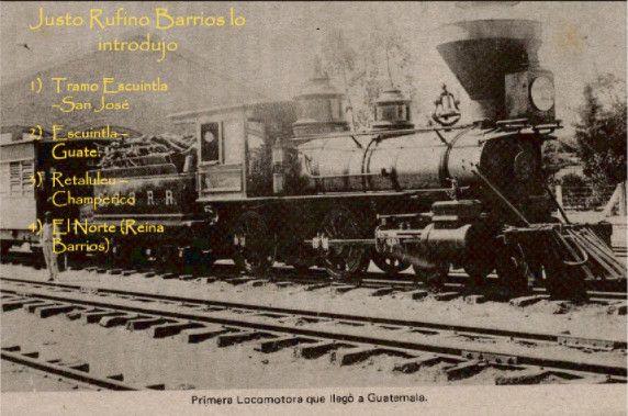 Primera locomotora llegada a Guatemala