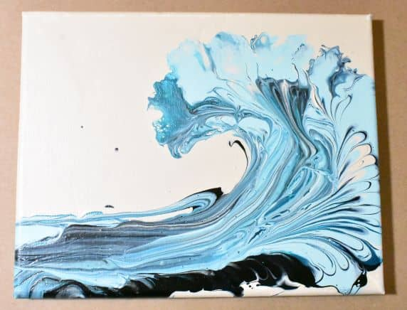 Choosing Paint Colors for Acrylic Pouring Wave example