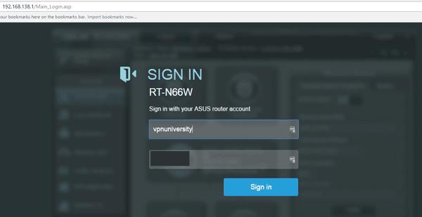 ASUSWRT login