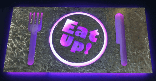 Sign for Eat Up cafe