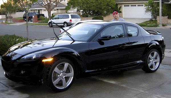 The Black Mazda Rx-8