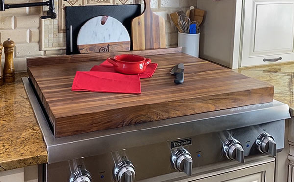 cutting board cooktop cover