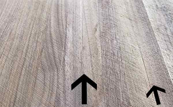 board that still needs more sanding to flatten