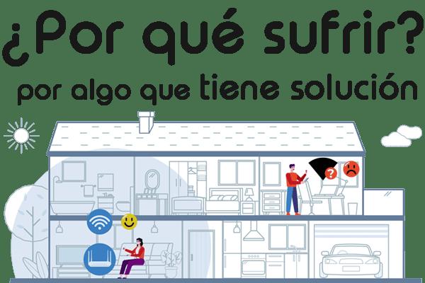 Imagen Wifi Megabestia, descripción router tradicional sin cobertura en toda la vivienda