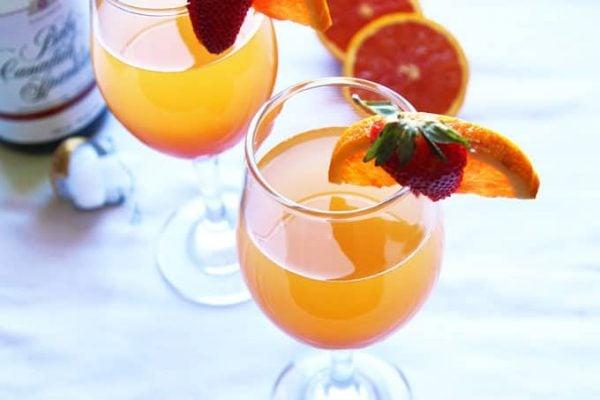 Sunrise Mimosa with Orange