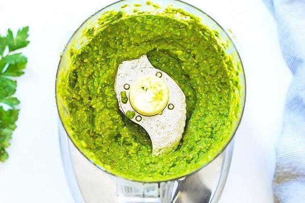 Kale Pesto in Food Processor