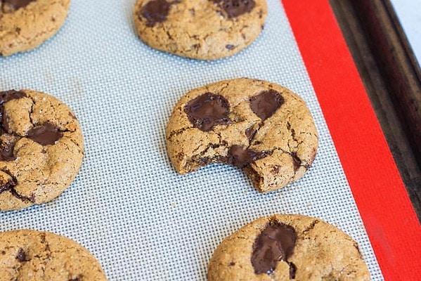 Coconut Flour Cookies on Baking Sheet