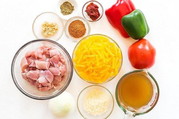 Cajun Chicken Pasta Ingredients