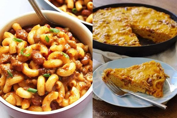 Leftover Chili Mac and Frittata