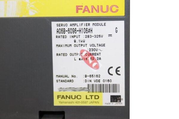 a06b-6096-h106#h svm1-130 f/o #H software fanuc