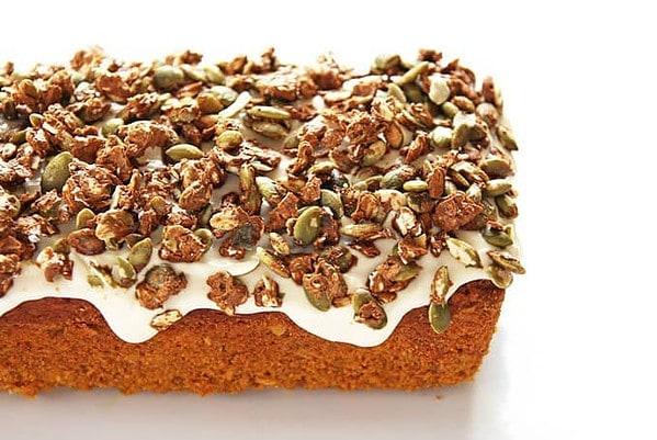 Pumpkin Loaf with Pepita Crunch