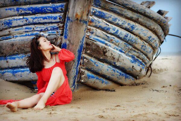 ritratti sulla spiaggia