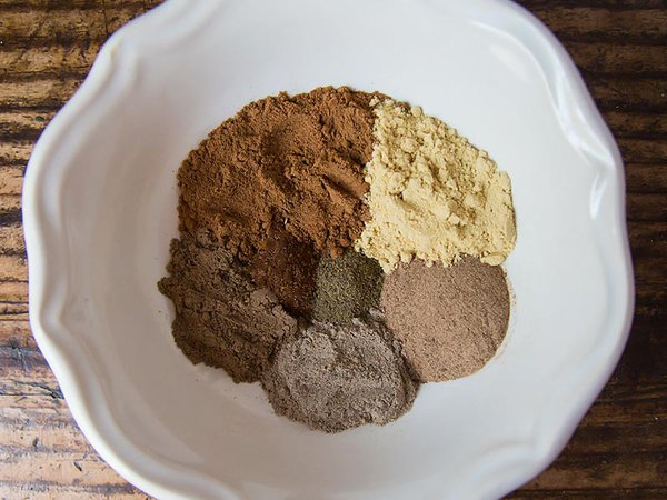 Measured Chai Spices in Bowl