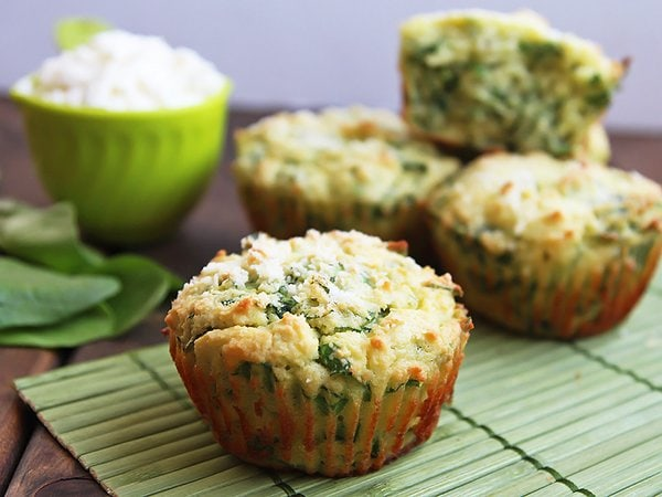 Green Spinach and Cheese Muffins