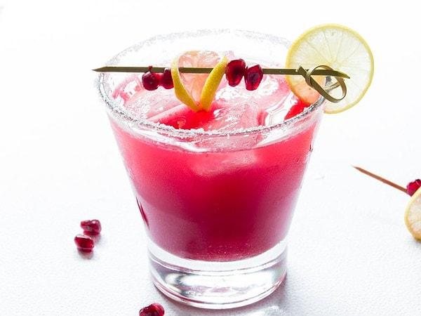 Pomegranate Margarita in Glass