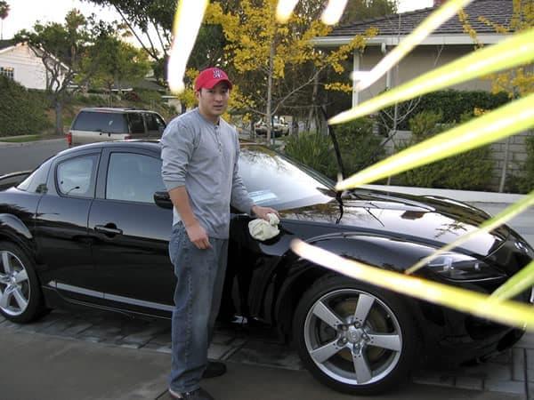Black Mazda RX-8