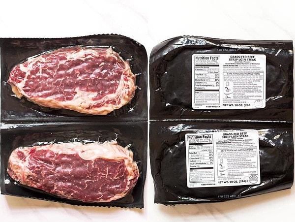 Grass fed stip loin steaks