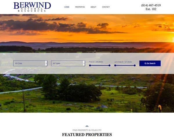Screenshot of Berwind Natural Resources website