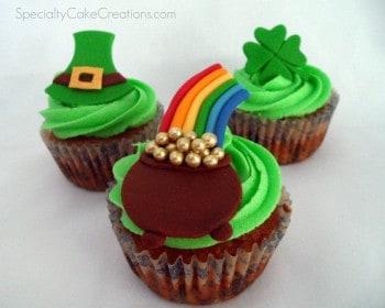 Trio of St Patrick's Cupcakes
