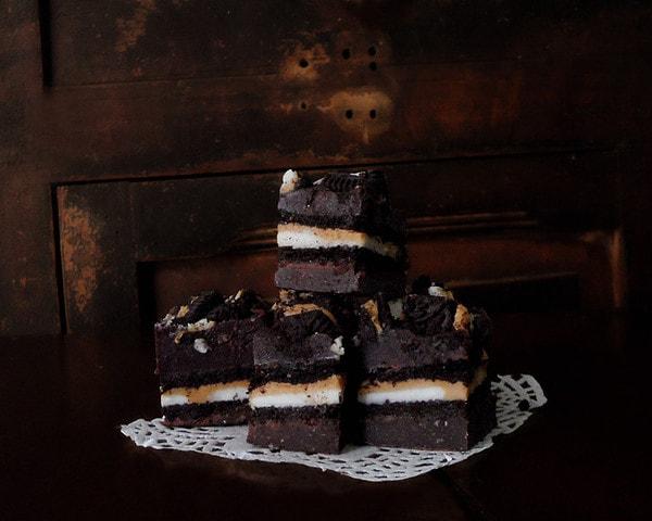 Stack of Chocolate Oreo Fudge