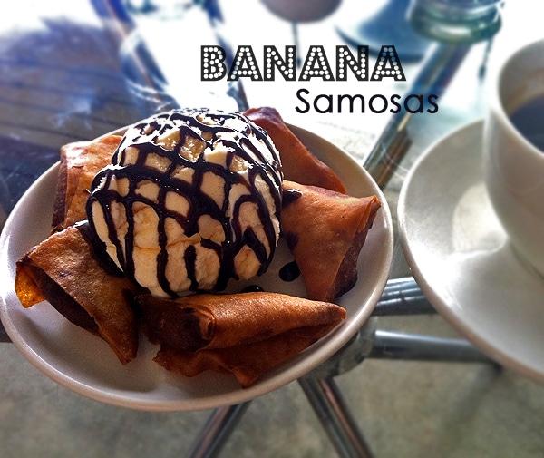 Ice Cream and Banana Samosas