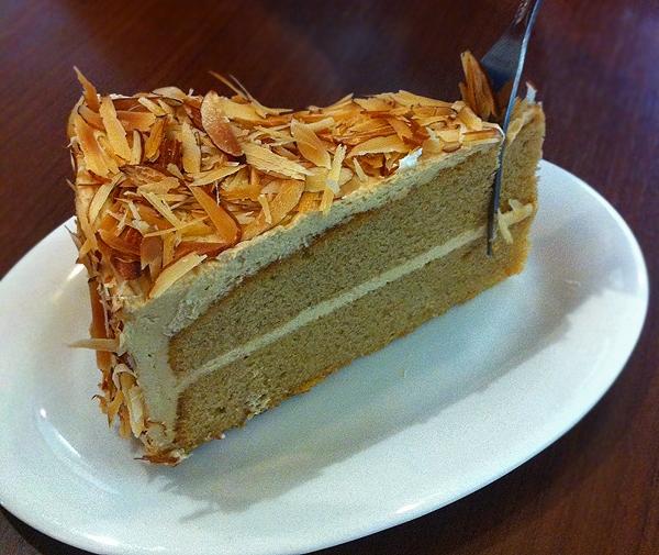 Wedge of Coffee Almond Cake