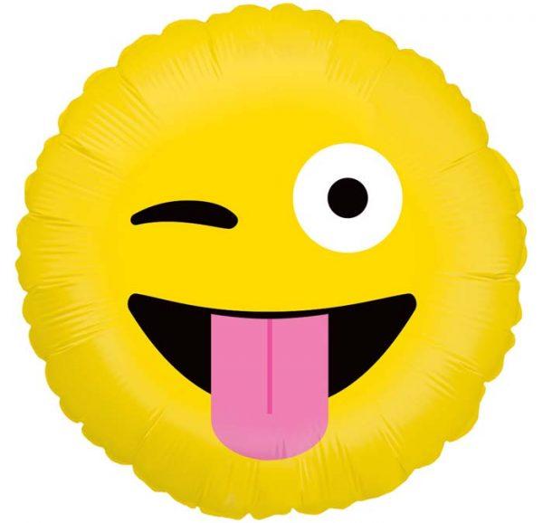 Bouquet De Ballons Livraison Ballon Surprise Rond Emoji clin d'œil - Smiley farfelue - 36593