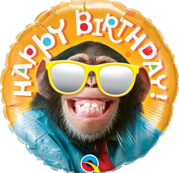 Ballon anniversaire chimpanzé.