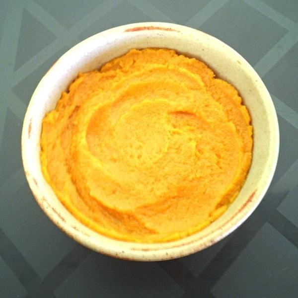 Pumpkin Batter in Baking Dish