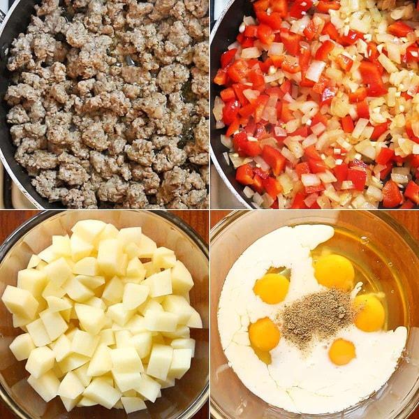 Making the Breakfast Casserole