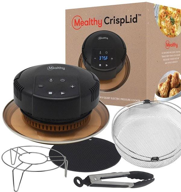 Mealthy Crisplid, box, basket, trivet, tongs, silicon mat
