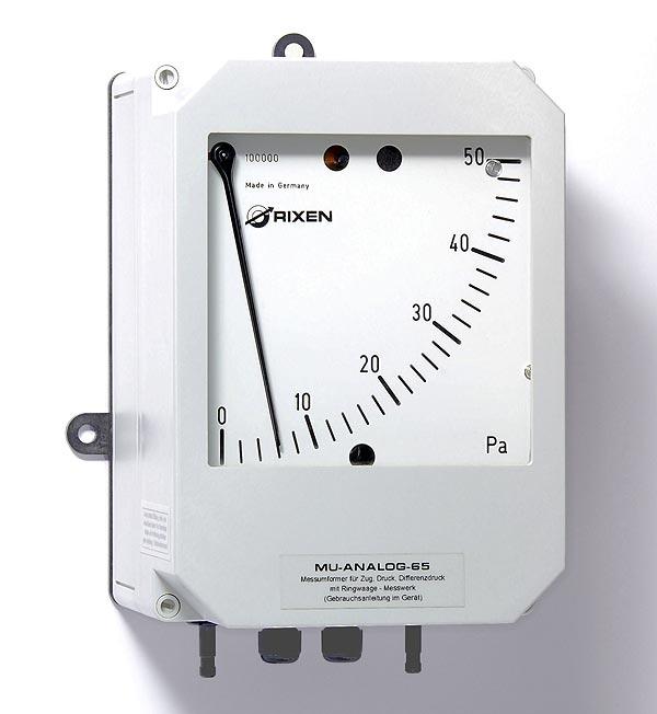 Differenzdruckmessgerät MU-Analog-65 mit analoge Anzeige als Messumformer - differential pressure transmitter MU-Analog65
