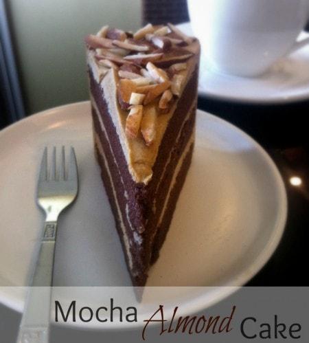 Slice of Mocha Almond Cake