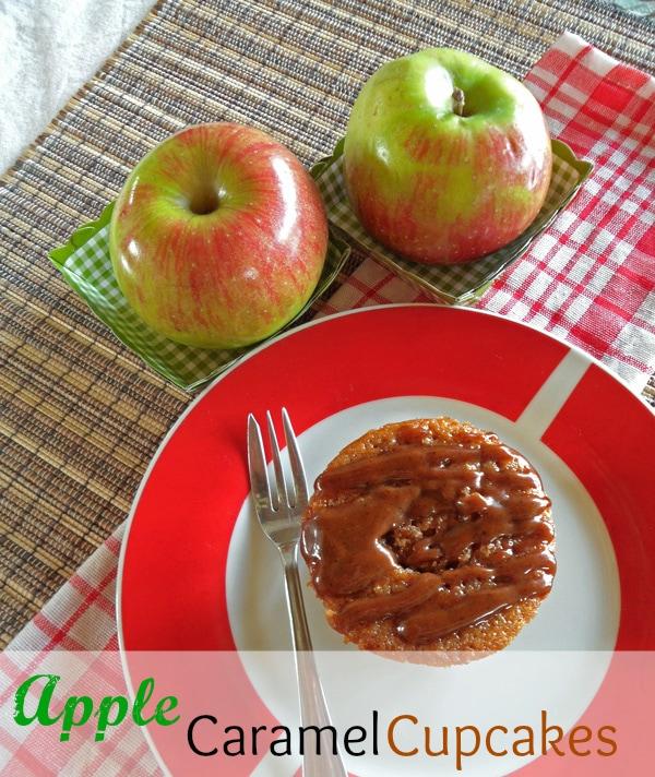 Caramel Apple Cupcake on Plate