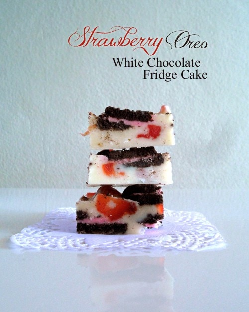 Strawberry White Chocolate Fridge Cake