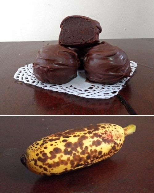 Truffles and Ripe Banana