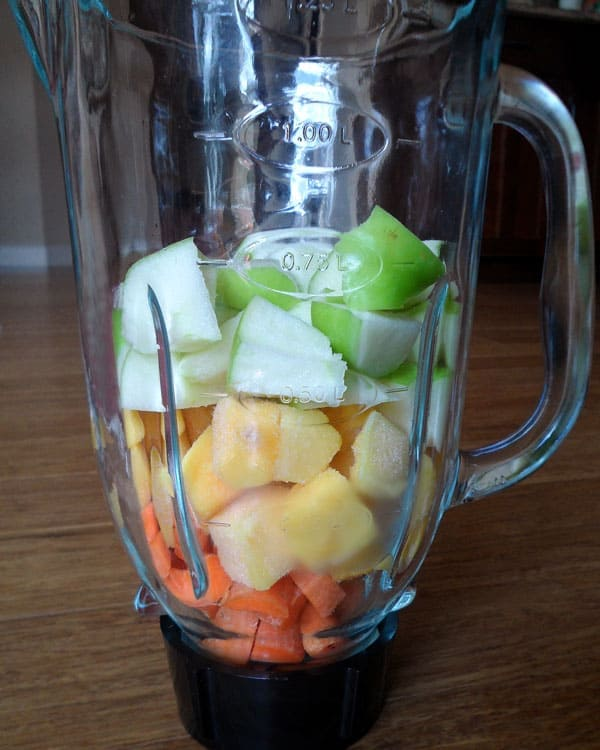 Smoothie Ingredients in Blender