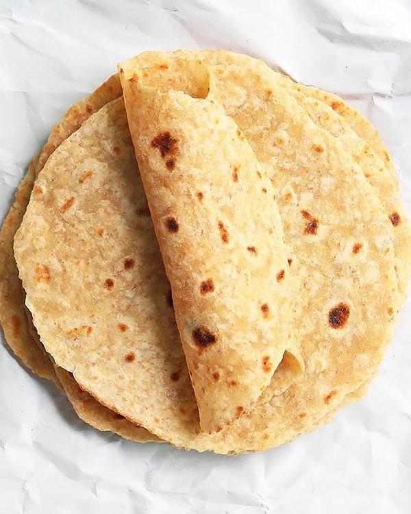 Stack of Homemade Tortillas