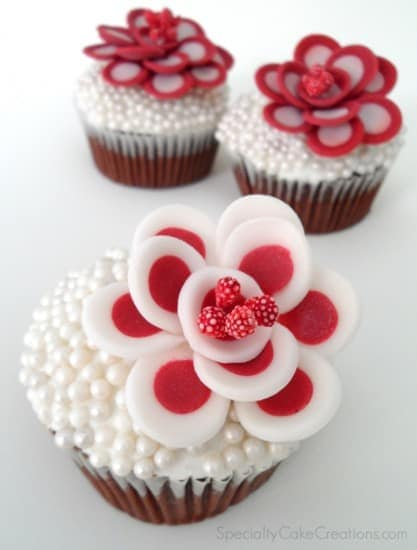 Red and White Shawna Flowers