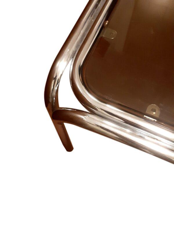 Table Basse Chrome et Verre Fumé, 1970s