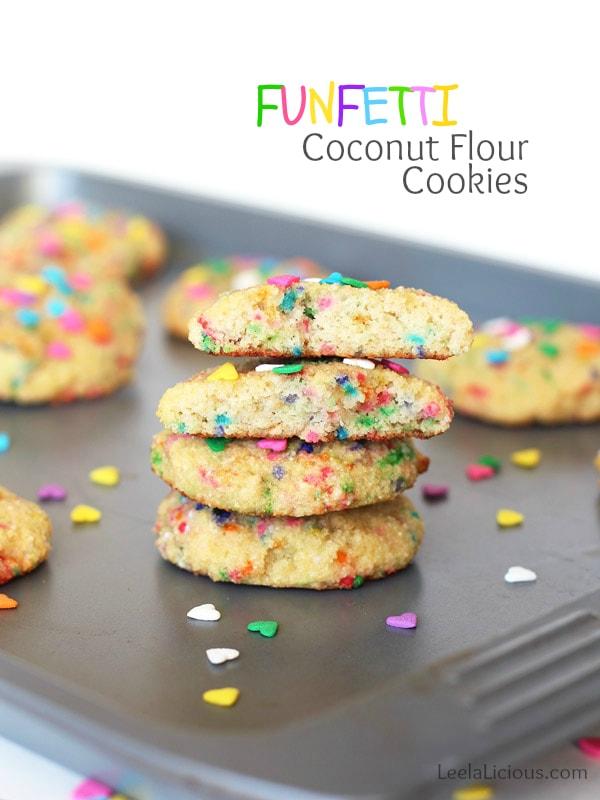 Funfetti Coconut Flour Cookies