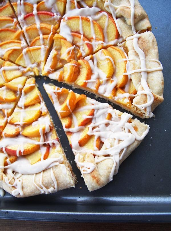 Peaches and Cream Galette Close-up