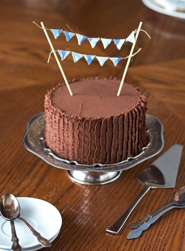 Baby Shower Quadruple Chocolate Cake