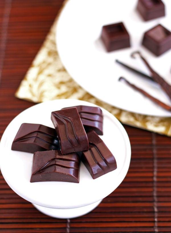 Homemade Dark Chocolate Squares