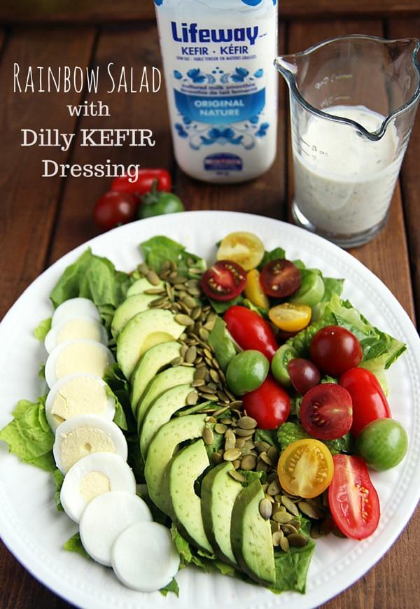 Kefir Dressing and Rainbow Salad