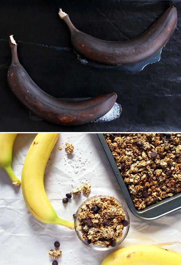 Granola with Roasted Bananas