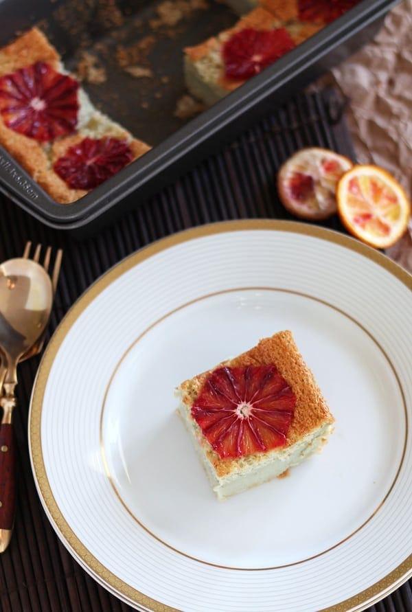 Blood Orange Custard Cake